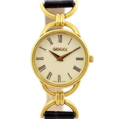 Vintage Gucci 6000.2.L Gold Plated Ladies Quartz Watch