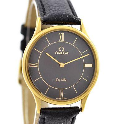 Vintage Omega De Ville Quartz Cal.1365 Gold Plated Midsize Watch