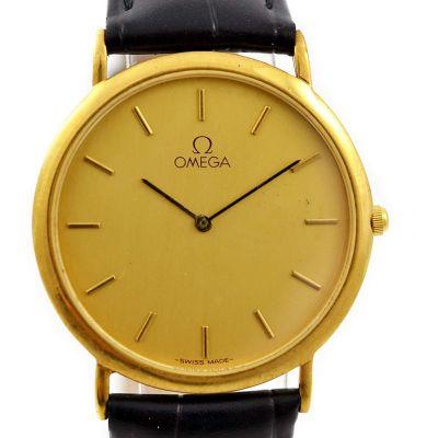 Vintage Omega De Ville Cal.1378 Gold Plated Quartz Midsize Watch