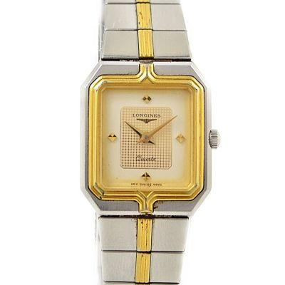 1990 Vintage Longines Flagship Stainless Steel Two Tone Ladies Quartz Watch