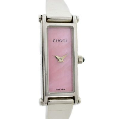 Vintage Gucci 1500L Mother of Pearl Stainless Steel Ladies Quartz Watch swiss