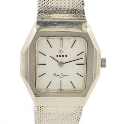 Vintage Rado Royal Elegance Stainless Steel Automatic Midsize Watch mens