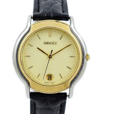 Pre-Owned and Collectible Gucci 8000M Stainless Steel Midsize Quartz Watch mens