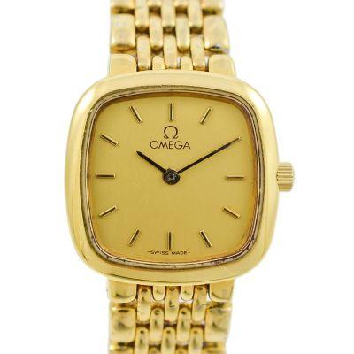 Vintage Omega De Ville Gold Plated Quartz Ladies Petite Watch 1990