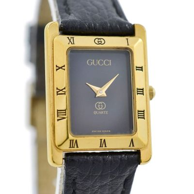 Pre-owned Gucci Gold Plated Quartz Ladies Watch 4200L retro