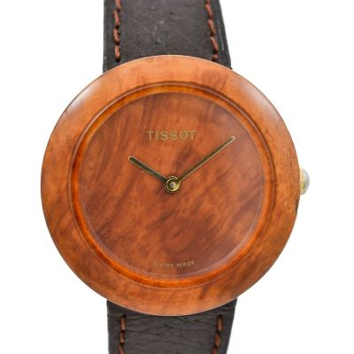Vintage Pre-Owned and Collectible Tissot Wood Watch W150 Quartz Ladies Watch retro 1980