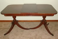 DUNCAN PHYFE DINING ROOM SET DOUBLE PEDESTAL TABLE CHAIRS ...