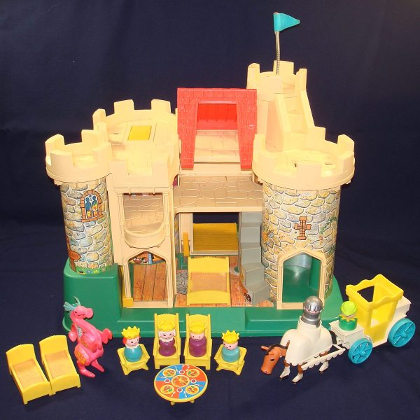 1974 Fisher Play Family Castle King Queen Woodsman