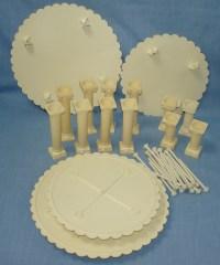 WILTON 37 PIECE VINTAGE PLASTIC WEDDING CAKE SEPARATOR ...