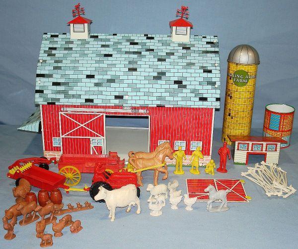 Ohio Art Rolling Acres Farm Pressed Steel Play Set Barn