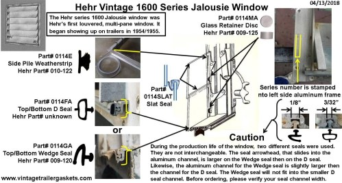 small resolution of gaskets seals and rubber for vintage hehr and woodlin windows diagrams likewise rv travel trailer water plumbing diagram on scamp