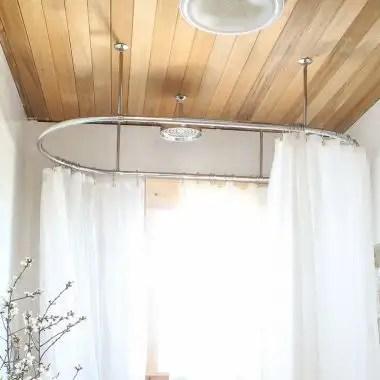 clawfoot tub oval shower enclosure 30 x 60 inch