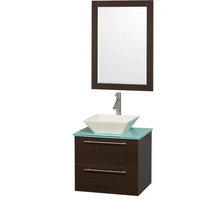amare 24 inch single bowl bathroom vanity set with vessel sink
