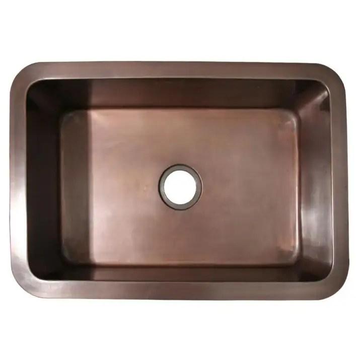 copperhaus 30 inch undermount kitchen sink smooth bronze