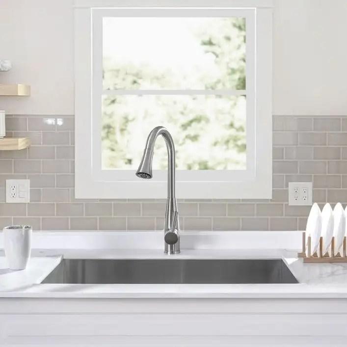 stainless steel 32 inch zero radius single bowl undermount kitchen sink stainless steel