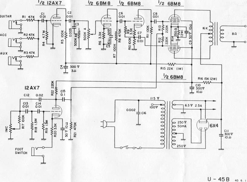 Schematic U – The Wiring Diagram