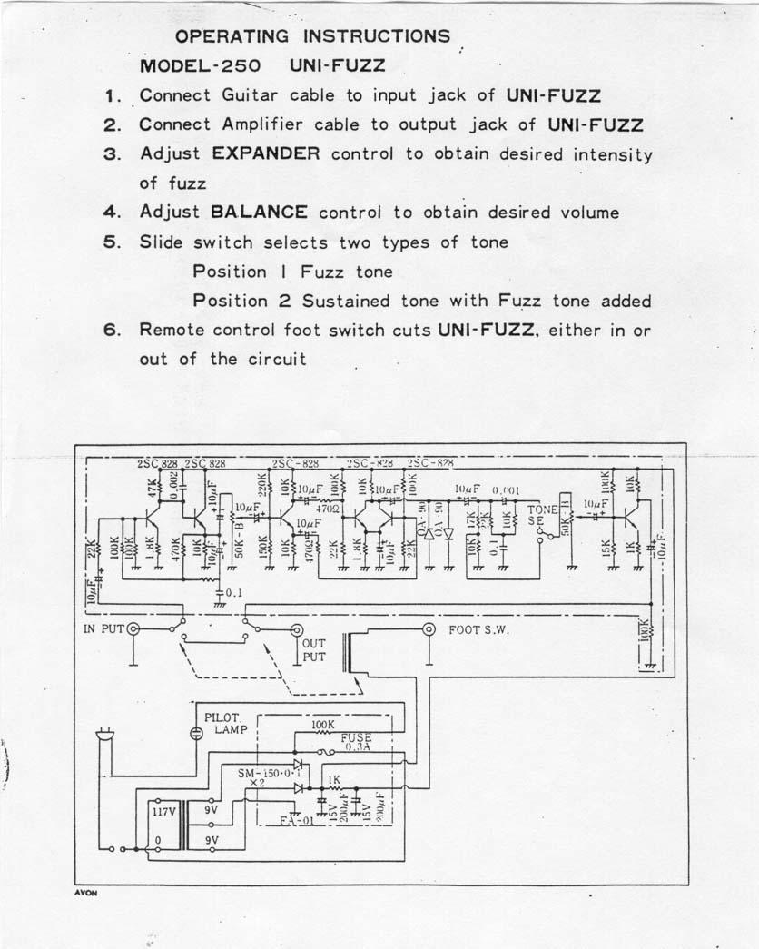 medium resolution of univox electric guitar wiring schematics wiring library manual 111 kb schematics