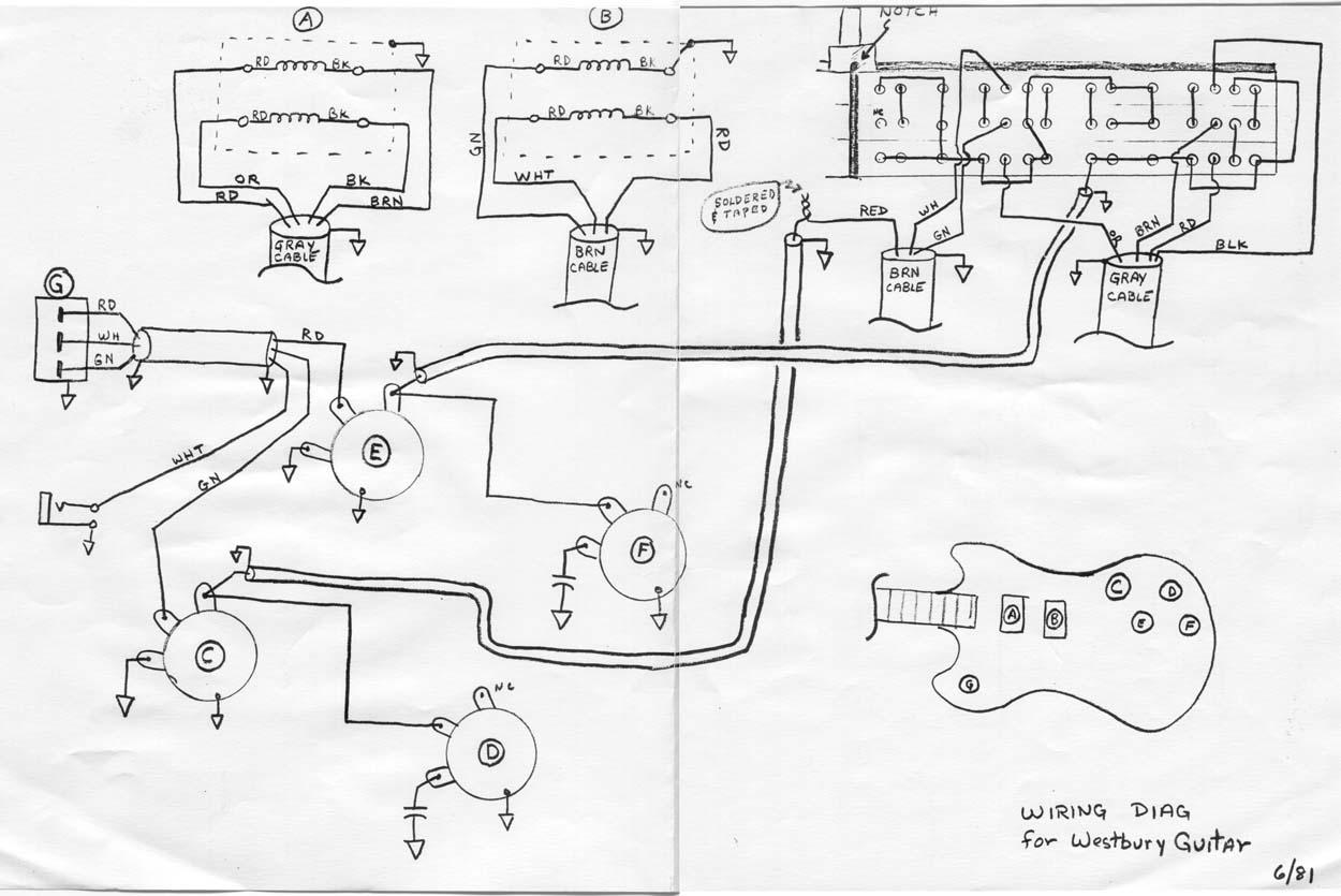 epiphone bass guitar wiring diagram