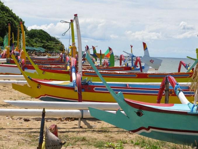 Fishing boats at Sanur