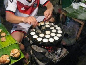 Coconut pancakes at the night market