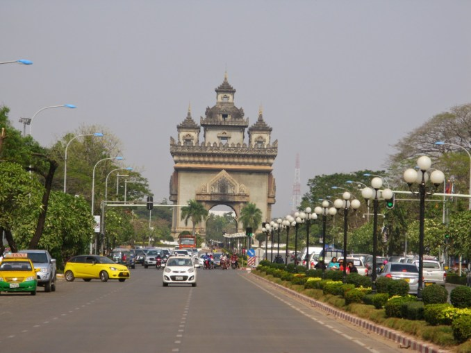 Vientiane's answer to the Arc du Triomphe (it's taller)