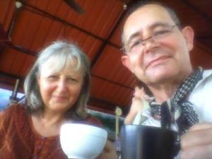 In Varkala, 6 weeks into the trip. We look scruffier now!