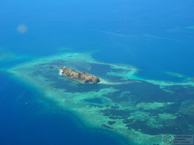 Even from the air, the snorkeling and diving spots around Labuan Bajo look amazing