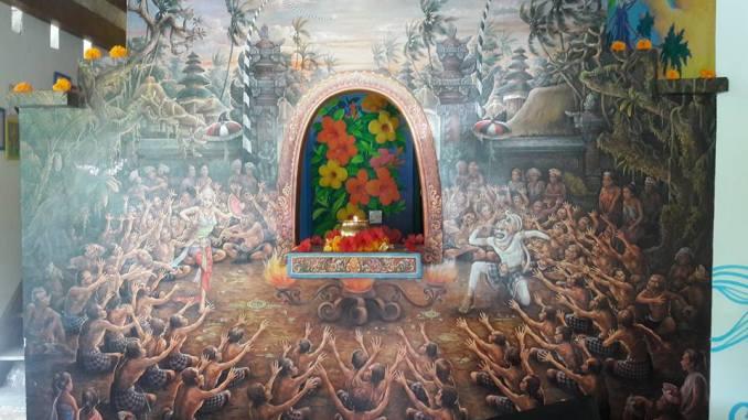 Painted panel at Bali Bohemia