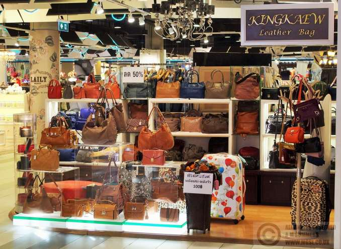 Handbag stall in Grand Plaza Rama 9
