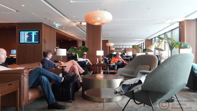 Cathay business lounge - not impressive!