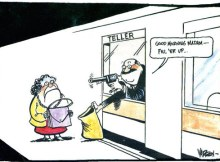 bank teller robber