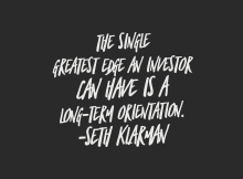 The Single Greatest Edge and Investor Can Have - Seth Klarman Quotes - Vintage Value Investing