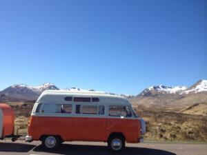 retro campervan for rent