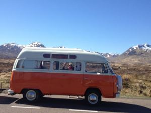 Vintage VW Campers in the Highlands