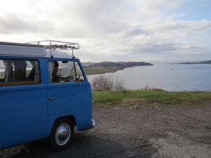 Glamping in Scotland in a VW Camper
