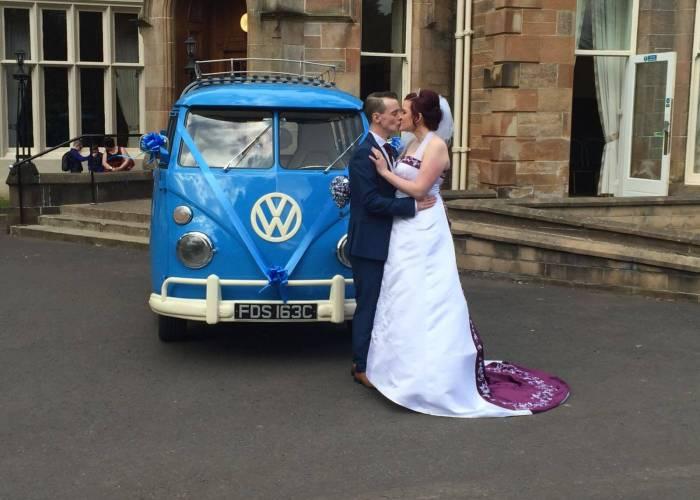 VW Glasgow Wedding in Royal Blue