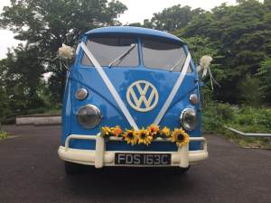 Meg VW with sunflowers