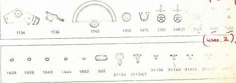 Enicar AR 1124 watch parts