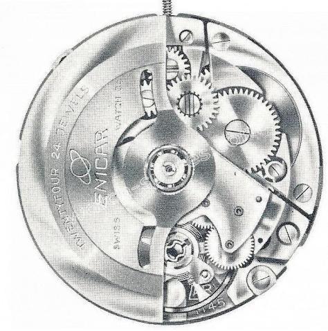 Enicar AR 1146 B watch movements