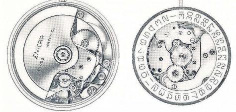 Enicar AR 165 D watch movements 1