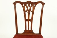 Antique English Gothic Chippendale-Style Dining Chairs, S ...