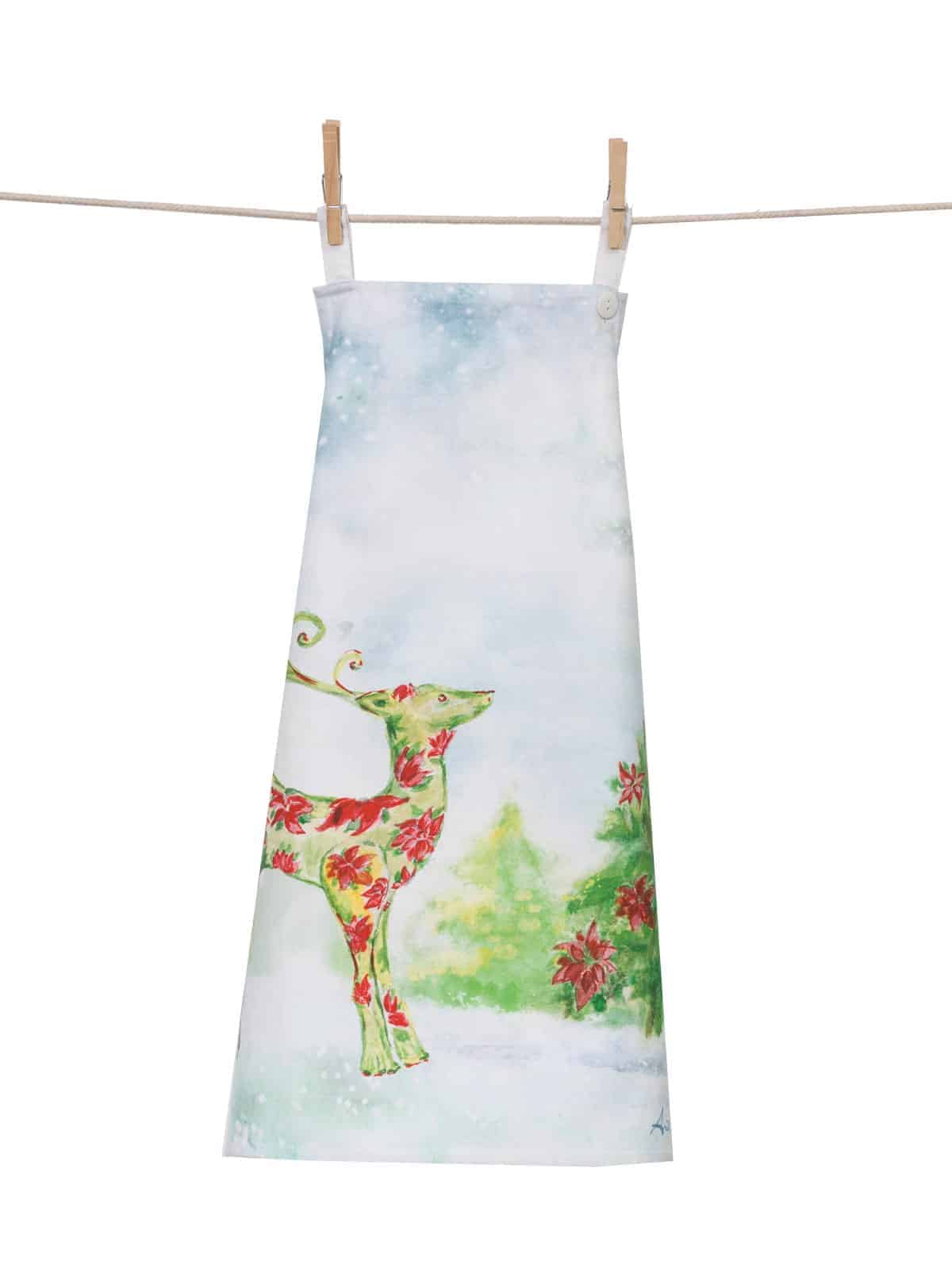 kitchen apron for kids outdoor kitchens on a budget april cornell dear poinsettia vintique flair