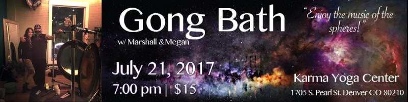 July Gong Bath at Karma