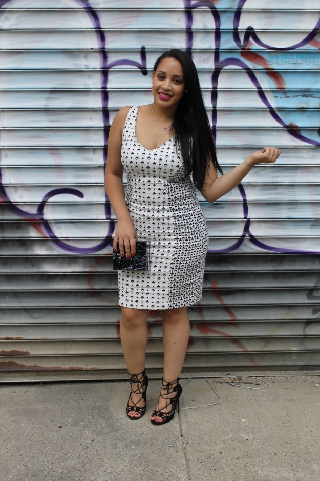 french connection modern mosaic strappy dress
