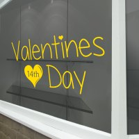 Valentines Day Hearts Sign Retail Shop Window Display ...