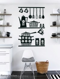 Retro Kitchen Wall Sticker by Vinylize Wall Deco