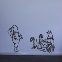 Banksy Jungle Book Execution Wall Art Decal | Vinyl Revolution