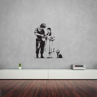 Banksy Oz Stop and Search Wall Art Decal