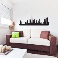 Dubai City Skyline Vinyl Wall Art Decal for Home Decor ...