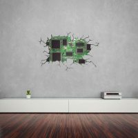 Cracked Wall Motherboard Vinyl Wall Art | Vinyl Revolution